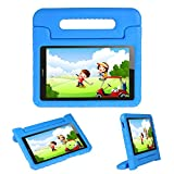 Kids Case Stand for Compatible Huawei MediaPad T3 8 8-In/Huawei Honor Play Pad 2 8-In,I - original Eva Shockproof Protective Carry Handle Lightweight Tablet Holder Cover for Toddlers Children(Blue)