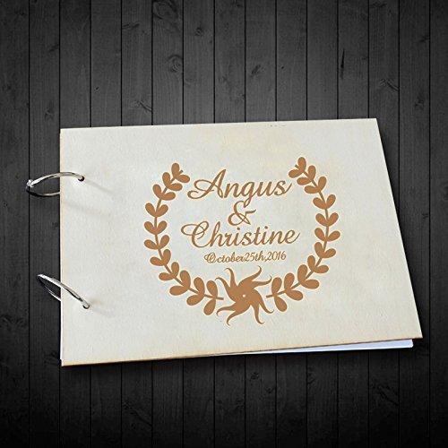 Olive Branch personalisiert Braut und Bräutigam Namen Hochzeit Foto Alben 20,3x 30,5cm Bridal Dusche Geschenke (Oliven Dusche)