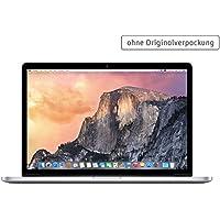 Apple MacBook Pro 38,10 cm (15 Zoll) Notebook (Intel-Core i7 4750HQ, 2,0GHz, 8GB RAM, 256 GB SSD, Intel Iris Pro Graphics 5200,  Mac OS) silber