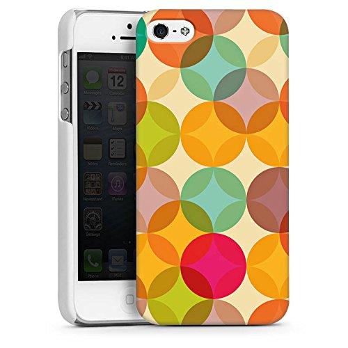 Apple iPhone 4 Housse Étui Silicone Coque Protection Art Abstrait multicolore CasDur blanc