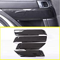Tianrui Crown 4pcs Carbon Fiber Style ABS Plastic Inner Door Decoration Cover Trim For Landrovr Rang Rove Sport RR Sport 2014-2019