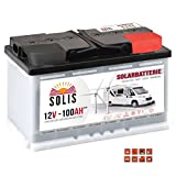 Solis Solarbatterie 12V 100Ah Wohnmobil Boot Marine Versorgung Verbraucher Batterie