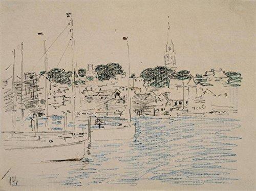 Newport Wand Hängen (Das Museum Outlet-catboats, Newport Harbor, 1901-Poster (mittel))