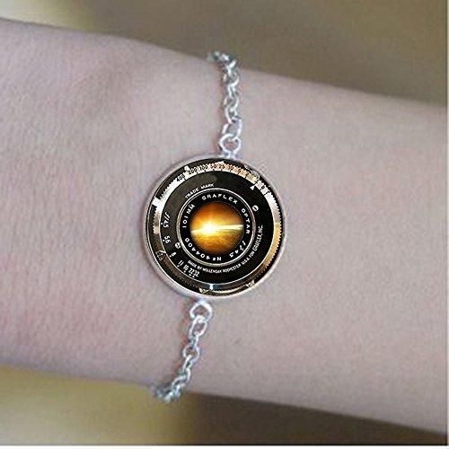 nse Ornament Antikes Kameralinse Armband Grau Schwarz Weiß Fotografie Armbänder Fotografen Sonnenaufgang kein eigentliches Objektiv ()