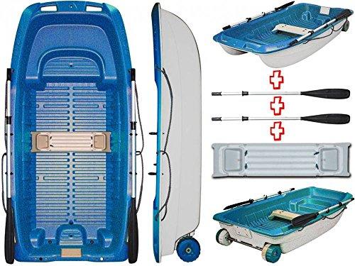 BIC Sportyak 245 Angel barco persona espejo de popa de pescar fuera de borda ruedas de transporte