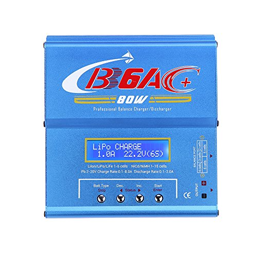 """Goolsky B6AC 80W da 2,5"""" NiCd / Ni-MH / li-ion / Li-Fe / LiPo / Pb aggiornato professionale Scaricabatterie equilibrio caricabatterie"""