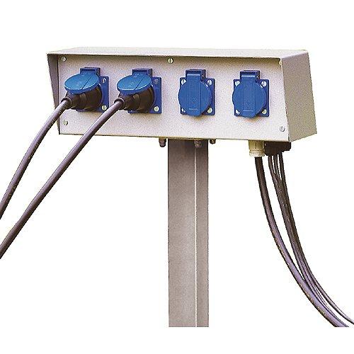 SLV Energie Pack, 230 V maximal 16 A inklusive Erdspiess und Montageschrauben, IP54 227000