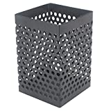 Cosanter Métal pot Bureau en Maille Style Compartiments Rectangle Supports Bloc-notes Porte Stylo Pen Pot Noir