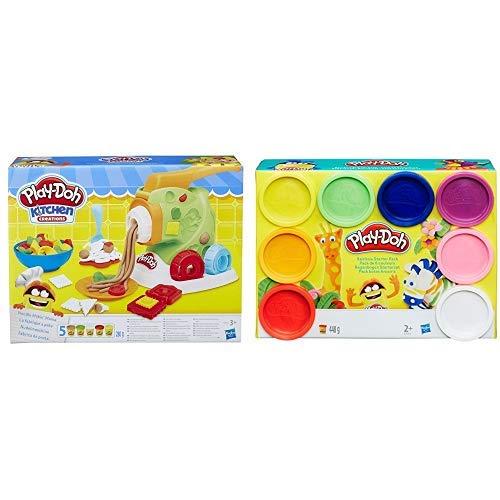 Hasbro Play-Doh B9013EU4 - Nudelmaschine Knete, für fantasievolles und kreatives Spielen &  Play-Doh A7923EU6 - Regenbogen, 8-er Pack