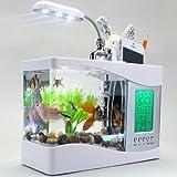 MFEIR Aquarium klein mini USB Zierfisch