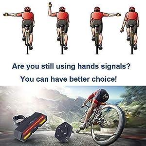 FINDANOR - Luces traseras para Bicicleta, Control Remoto inalámbrico, Luces de Freno de Bicicleta de Seguridad y Luces Intermitentes, 2200 mAh, Recargables por USB, Impermeables IPX4.