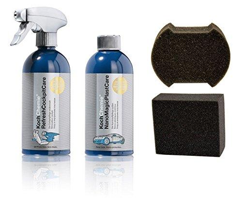 Preisvergleich Produktbild Koch Chemie Refresh Cockpit Care & Nano Magic Plast Care & 2X Schwämme