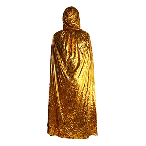 Halloween Schwarz Mit Kapuze Cape Grim Reaper Robe Umhang Outfit Teufel-Kostüm - (Roben Grim Reaper)