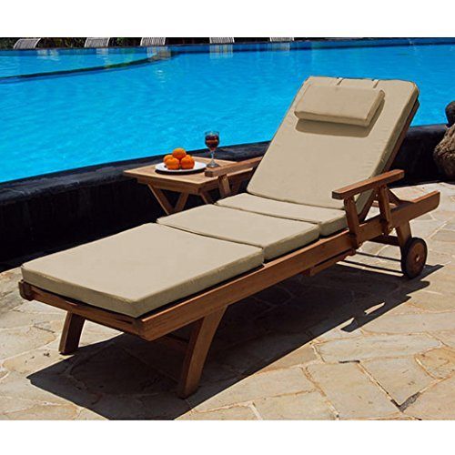 519OhehiCwL. SS500  - Shopisfy Water Resistant 4 Part Lounger Cushion Pad ONLY *Lounger not included*
