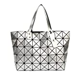 Yueling Frauen Tasche Damen Geometrische Pailletten Spiegel Plain Folding Handtasche Mujer Mosaik...