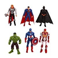 Avenger Action Figure 5-7 inch Marvel Legends Hot Toys Avengers Infinity War Avenger Collectable Titan Hero Series Figures Toy PVC 6Pcs/Set Gift Collectible for Kids