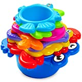 aGreatLife® My First Stacking Cups: Best Educational Bath Toy for Babies and Toddlers - Fun and Brightly Colored Under the Sea Animals - With Free Colorful Stickers - Perfect Easter Basket Stuffers