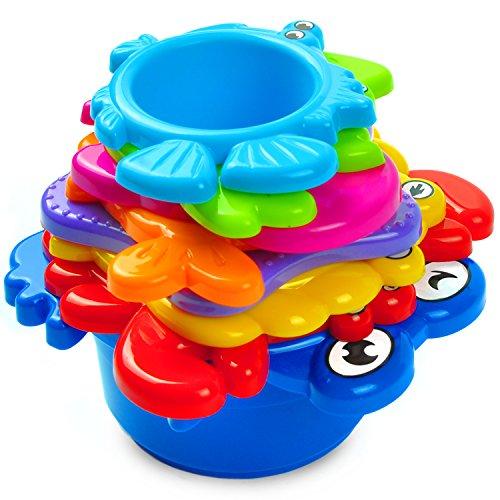 aGreatLife Meine ersten Stapelbecher: Bestes pädagogisches Bade-Spielzeug für Babys und Kleinkinder –...
