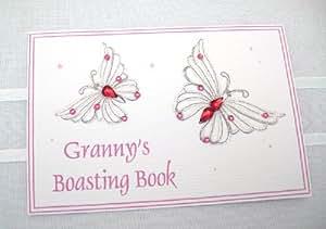 "White Cotton Cards - Petit album photos ""Granny"" - Papillon - Rose"