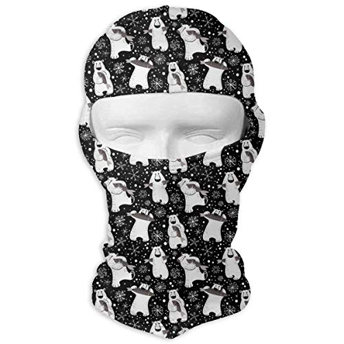 Polar Bear Kostüm - Voxpkrs Outdoor Sports Full Face Masks Polar Bear Eat Fish White Balaclava Hood Skullies