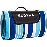 SLOTRA Manta de Picnic Alfombra de Picnic Impermeable de Apoyo Plegable al Aire Libre 3 Capas de Protección (Azul, 200*200CM)