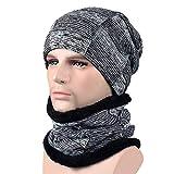 KPPONG 2018 6 Farben erhältlich Unisex Männer Frauen Winter Mütze Hut Schal Set Warme Strickmütze mit Schal