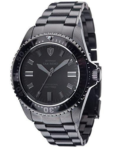 DETOMASO San Remo Black – Reloj Automatic Forza Di Vita para hombre, color negro