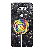 PrintVisa Designer Back Case Cover for LG V30 (Pattern Abstract Illustration Tasty Colorful Lolly Sugar Attractive)