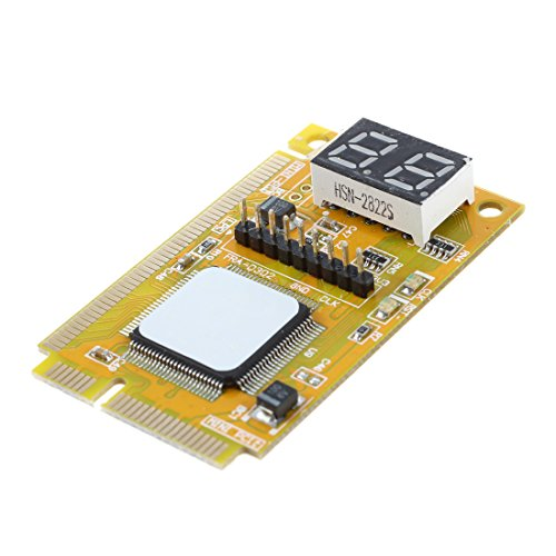 SODIAL(R) PC Hauptplatine Test Diagnose Karte Card Diagnosekarte MINI PCI-E LPC 3 in 1 neu
