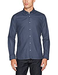 TOM TAILOR Herren Freizeithemd Floyd Soft Print Mix Shirt