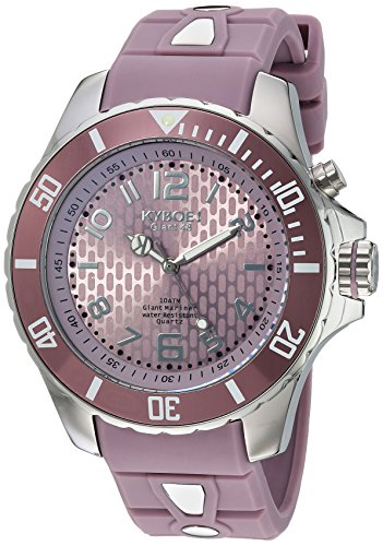 KYBOE Unisex-Adult Analogue Quartz Watch with Silicone Strap SC.48-007.15