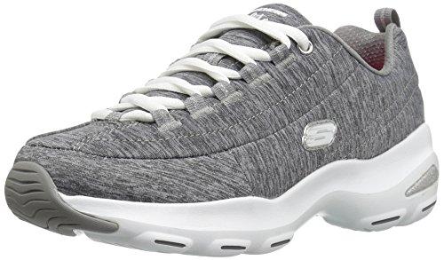 Skechers D'Lite Ultra-Meditative, Scarpe da Ginnastica Donna, Grigio (Grey), 40 EU