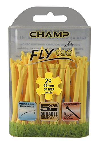CHAMP Zarma Golf Tees 70mm Fly (30 pack), gelb (Golf Gelb Tee)