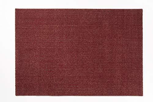 VENUS UNI moderner Designer Teppich in rot-mix, Größe: 140x200 cm -