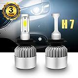 Lampadine H7 LED 8000LM, Kit Sostituzione per Alogena Lampade e Xenon Luci, Fari Abbaglianti o Anabbaglianti per Auto, 12V-24V, Lampada 6000K Bianco