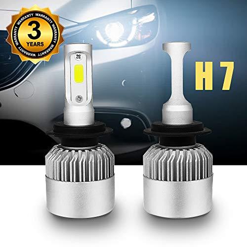 Bombilla H7 LED Coche, Faros Delanteros Bombillas de Coches 8000LM 6000K, Reemplazo...