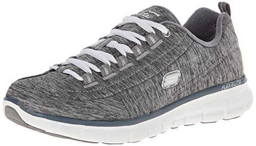 Skechers Synergy spot On, Baskets Basses femme Gris - Grau (GRY)