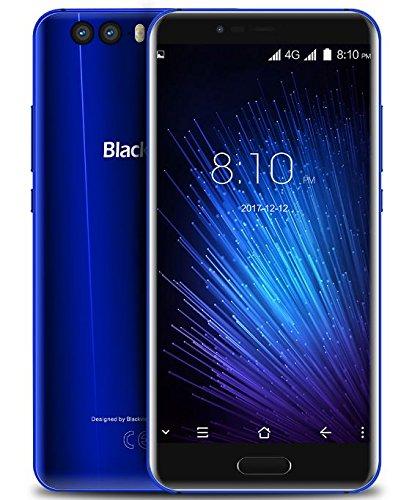 Blackview P6000 - Schermo FHD da 5,5 pollici Smartphone Android 7.0 4G, MTK6757CD Octa Core 2,6 GHz 6 GB + 64 GB, Slim con batteria 6180 mAh carica veloce, Riconoscimento facciale, Blu