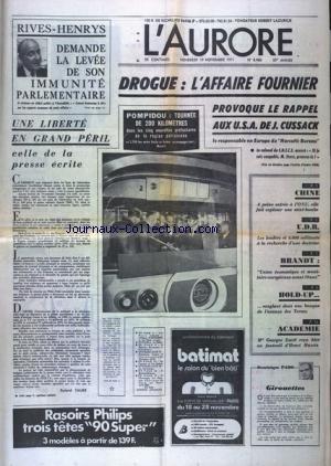 AURORE (L') [No 8466] du 19/11/1971