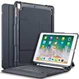 #9: Sandwich Case Secure 2-in-1, Keyboard Case/Cover for New iPad 9.7 2018 with Built-in Apple Pencil Holder and Detachable Front (Grey)