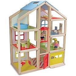 Melissa & Doug - Casa alta de muñecas de madera (12462)