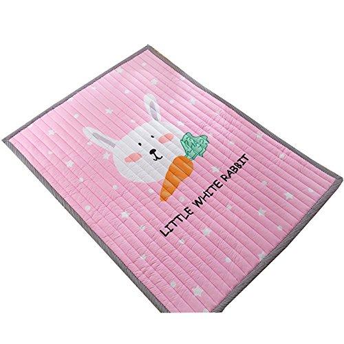 HUOXIAO Baby Spielmatte Kind Aktivität Schaum Boden Weichen Kind Eduktaional Spielzeug Geschenk Gym Crawl - 200X145cm,Pink