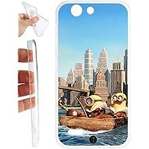 Custodia cover GEL MORBIDA per Vodafone Smart E8 VFD510 - 331 Minions New York