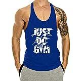 KODOO Homme Débardeur Musculation Bodybuilding Gym Stringer Singlet la Motion Gilet de Sangle Stretchy Coton