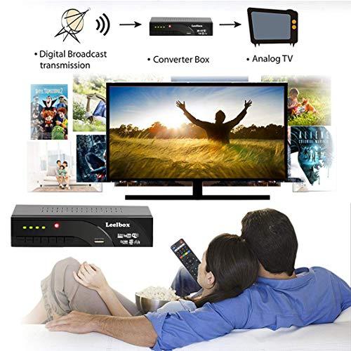 519Os5w63jL - Decodificador TDT Terrestre - Leelbox Digital TV HD Euroconector Sintonizador Receptor DVB T2 Tuner Full HD / HD Ready / 1080P / H.264 / MPEG / Dolby / Multimedia (DVB T2, PVR, SCART)
