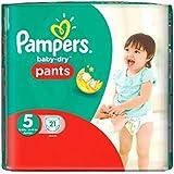 Taille 5 De Portage De Bébé-Secs Pantalons De Pampers 21 Couches -