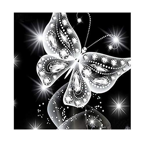 sunnymi 5D Diamant Stickerei Full Drill Phantom Schmetterlinge DIY Diamond Painting Dekoration (25x25cm)