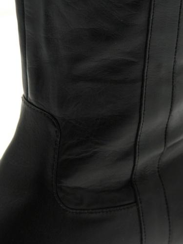Pascal Morabito Damen Stiefel 22210 Philomene Schwarz Schlupfstiefel mit Absatz Schwarz