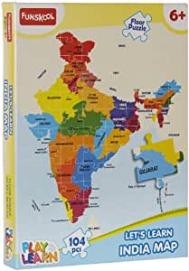 funskool play learn india map puzzles