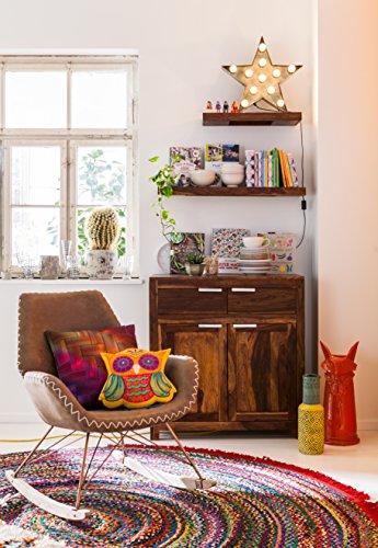 Kare Schaukelstuhl Florida, bequemer, moderner Lounge-Schaukelsessel auf Kufen-Gestell, braun (H/B/T) 45x43x50cm